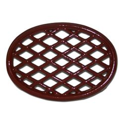 Apple Red Lattice Wood Stove Trivet