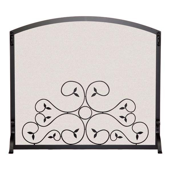 "Applique Scroll Fireplace Screen - 39"" x 33 1/2"" image number 0"