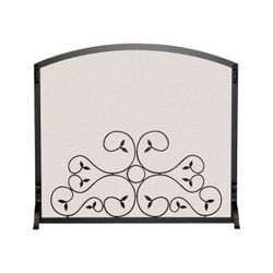"Applique Scroll Fireplace Screen - 44"" x 34 1/4"""