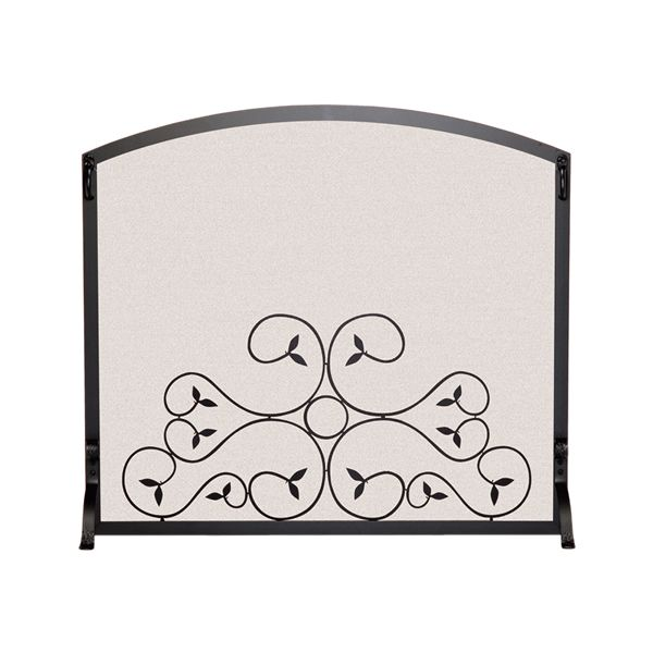 "Applique Scroll Fireplace Screen - 44"" x 34 1/4"" image number 0"