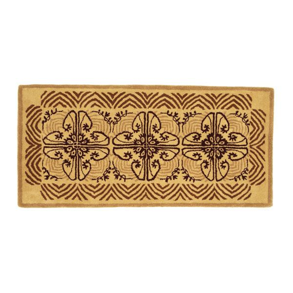 "Art Deco Cocoa Rectangular Rug - 56""x26"" image number 0"