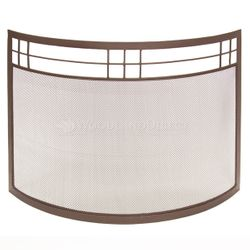 Arts and Crafts Curved Fireplace Screen