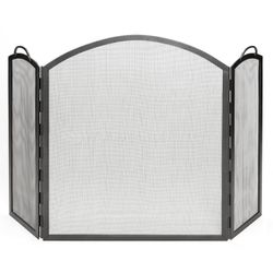 Three Panel Arched Fireplace Screen - Large
