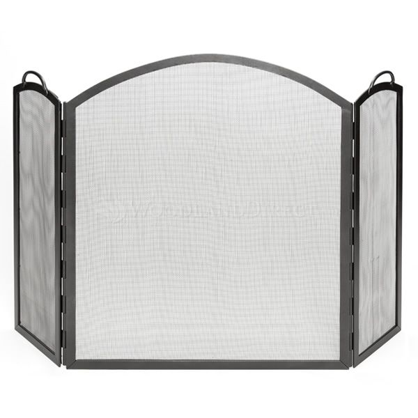 "Arched Three-Part Paneling Fireplace Screen - 59"" x 38"" image number 0"