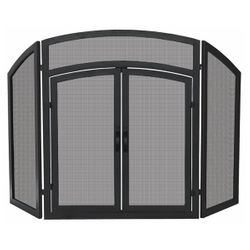 Arched Top Fireplace Screen with Doors