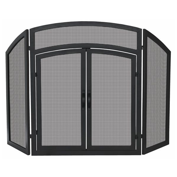 "Arched Top Fireplace Screen with Doors - 52"" x 32"" image number 0"