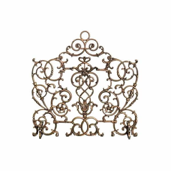 Arched Vineyard Cast Iron Fireplace Screen image number 0