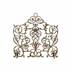 Arched Vineyard Cast Iron Fireplace Screen