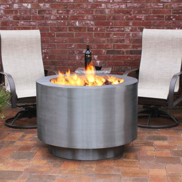 Arco Fia Stainless Steel Gas Fire Pit image number 1