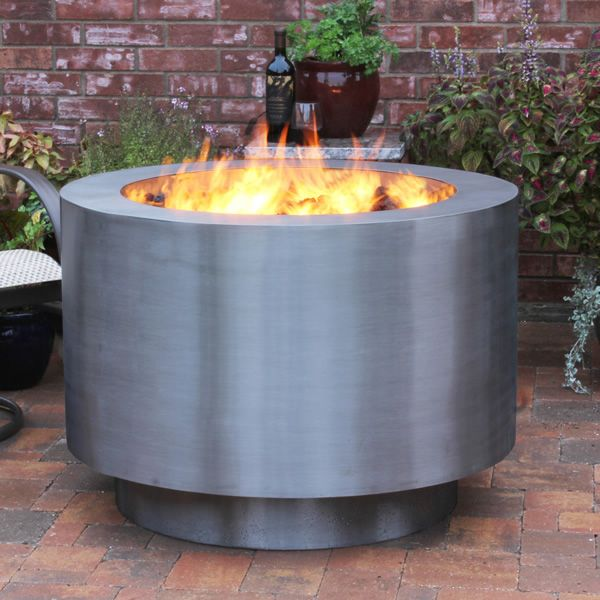Arco Fia Stainless Steel Gas Fire Pit image number 2
