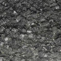 "Arctic Black Fire Glass - 1/4""-1/2"" 10 lbs."