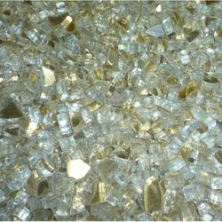 "Arctic Gold Reflective Fire Glass - 1/4""-1/2"" 10 lbs."