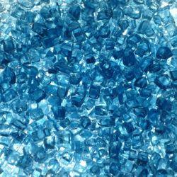 """Blue Fire Glass - 1/4""""-1/2"""" 10 lbs."""