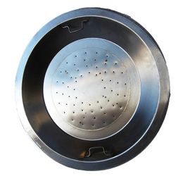 """Round Stainless Steel Gas Fire Pit Kit - LP - 20"""""""