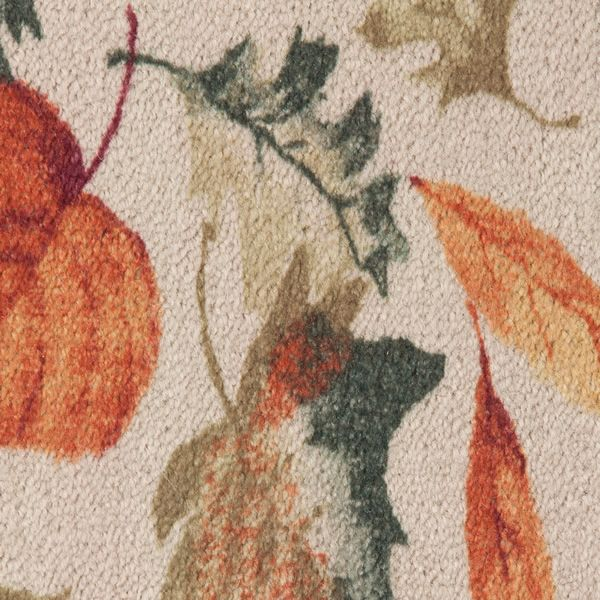Hearthside Autumn Leaves Printed Nylon Half Round Rug image number 1
