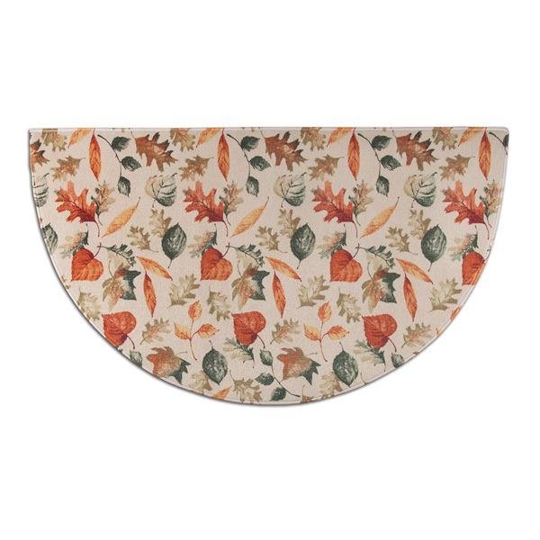 Hearthside Autumn Leaves Printed Nylon Half Round Rug image number 0