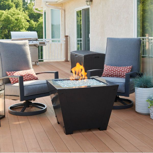 Axel Square Gas Fire Pit Table image number 0