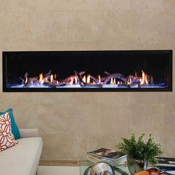 "Boulevard Contemporary Direct Vent Fireplace 72"""