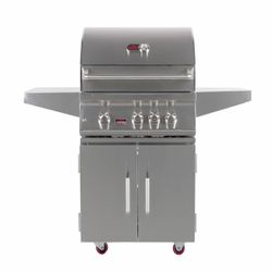 Bonfire Premium 3 Double Door Cart Gas Grill - 28""
