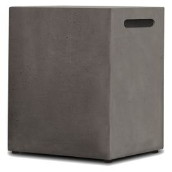 Real Flame Baltic 20lb LP Tank Enclosure - Glacier Gray