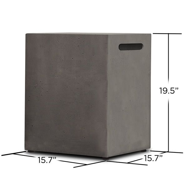 Baltic 20lb LP Tank Enclosure - Glacier Gray image number 1