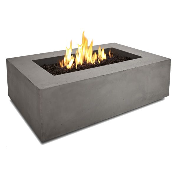 Baltic Rectangle Fire Table - Glacier Gray - NG image number 1