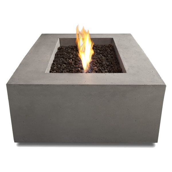 Baltic Rectangle Fire Table - Glacier Gray - NG image number 2