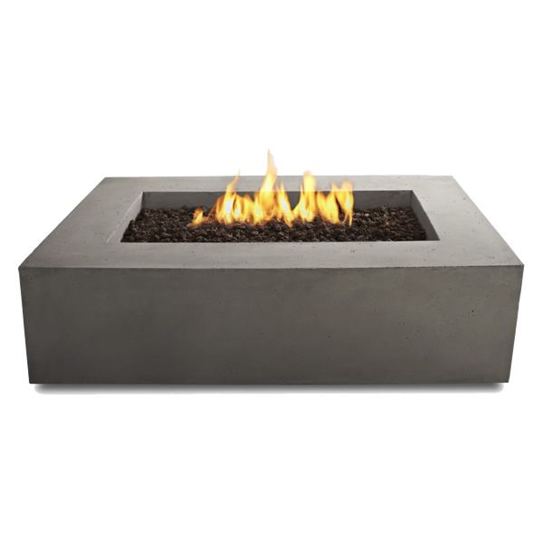 Baltic Rectangle Fire Table - Glacier Gray - NG image number 3