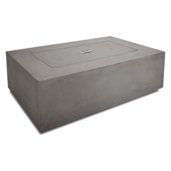 Baltic Rectangle Fire Table - Glacier Gray - NG image number 5