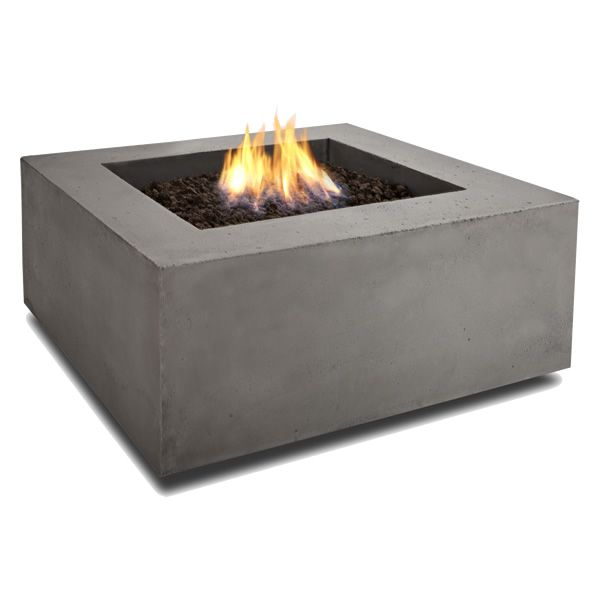 Baltic Square Fire Table - Glacier Gray - LP image number 1