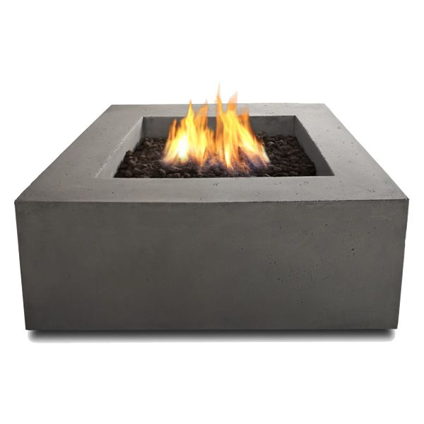 Baltic Square Fire Table - Glacier Gray - LP image number 2