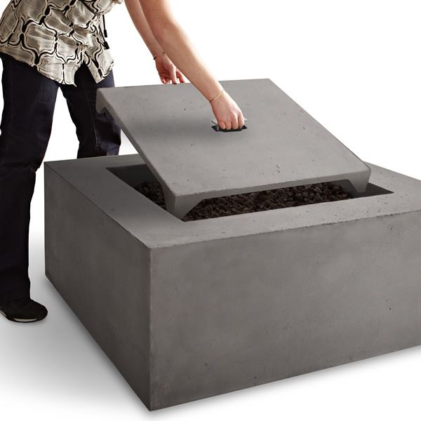 Baltic Square Fire Table - Glacier Gray - LP image number 3
