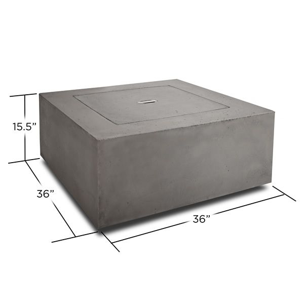 Baltic Square Fire Table - Glacier Gray - LP image number 5