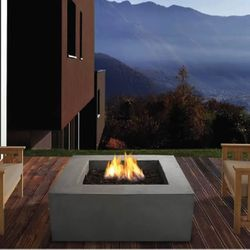 Real Flame Baltic Square Fire Table - Glacier Gray - LP