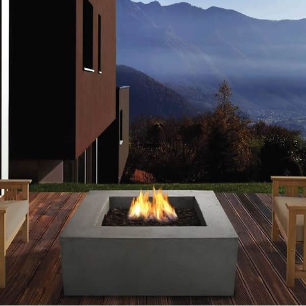 Baltic Square Fire Table - Glacier Gray - LP image number 0