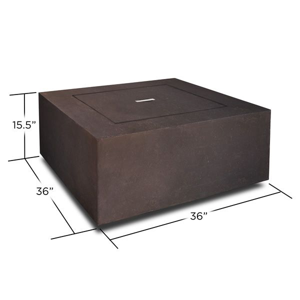 Baltic Square Fire Table - Kodiak Brown - LP image number 1