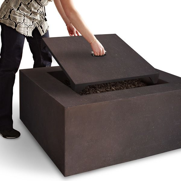 Baltic Square Fire Table - Kodiak Brown - LP image number 3