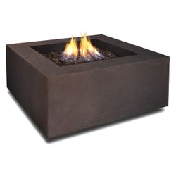 Real Flame Baltic Square Fire Table - Kodiak Brown - LP