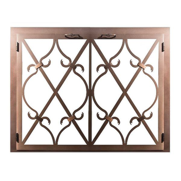 Banded Scroll Masonry Fireplace Glass Door image number 0