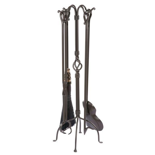Basketweave Fire Tool Set - Black image number 0