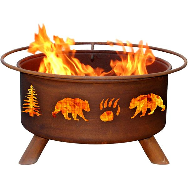 Bear & Trees Fire Pit image number 0