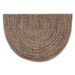 Beige - 4' Multi-Colored Braided Fireplace Hearth Rug