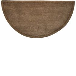 Beige Hand Tufted Fireplace Hearth Rug