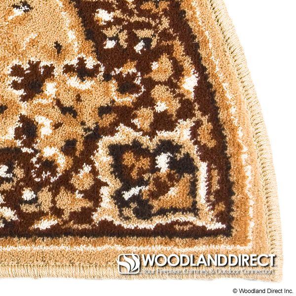"Beige Oriental Half Round Wool Fireplace Hearth Rug - 44""x22"" image number 1"