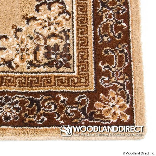 "Beige Oriental Rectangular Wool Fireplace Hearth Rug - 56""x26"" image number 1"