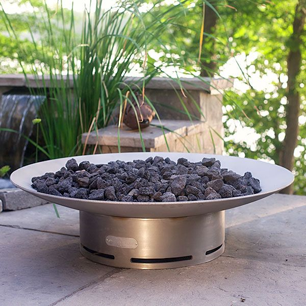 Bella Vita Stainless Steel Gas Fire Pit image number 2