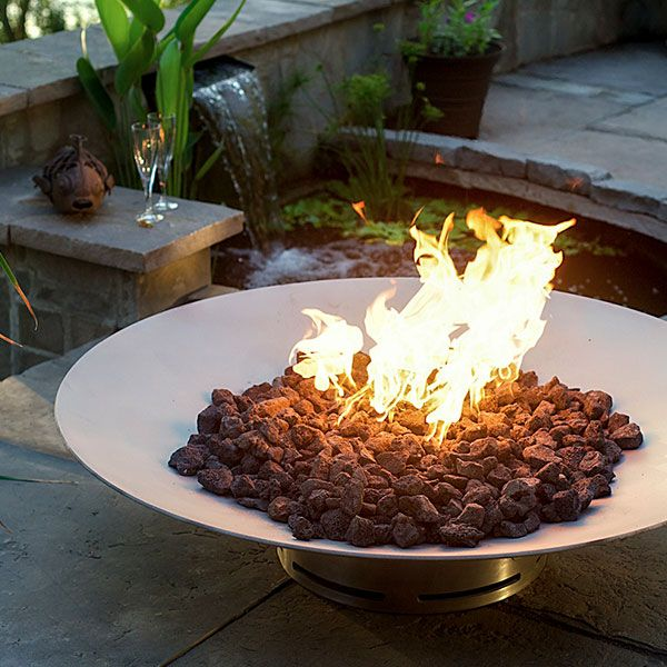 Bella Vita Stainless Steel Gas Fire Pit image number 3