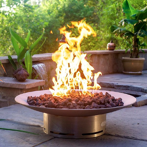 Bella Vita Stainless Steel Gas Fire Pit image number 5
