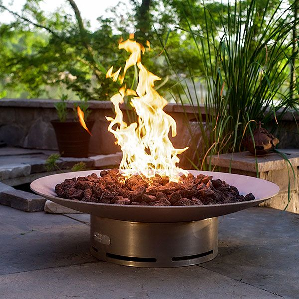 Bella Vita Stainless Steel Gas Fire Pit image number 0