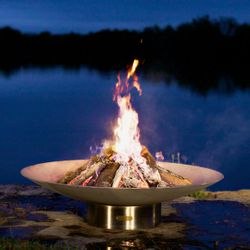 Bella Vita Stainless Steel Wood Burning Fire Pit